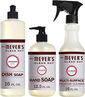 product image for Mrs. Meyer's Clean Day Kitchen Basics Set, Includes: Multi-Surface Cleaner, Hand Soap, Dish Soap, Lavender Scent, 3 Count Pack