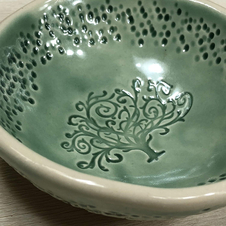 JANECKA Green Tree of Life Bowl 4