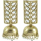 The Jewelbox Gold Plated Pearl Kundan Earring For Women