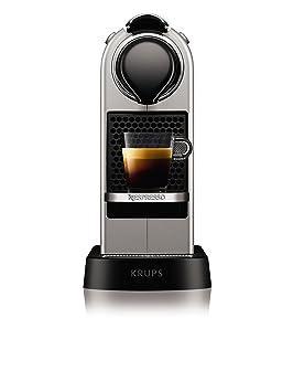 Krups YY2733FD Independiente Totalmente automática Máquina de café en cápsulas 1L 1tazas Plata - Cafetera (