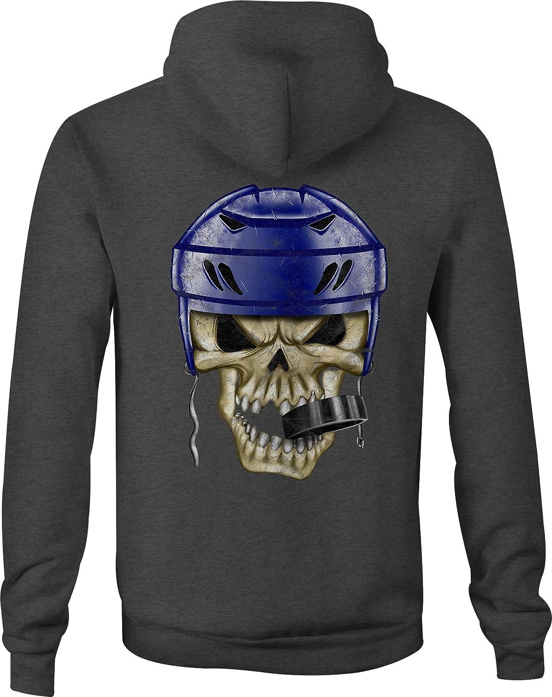 Zip Up Hoodie Hockey Helmet Hooded Sweatshirt for Men