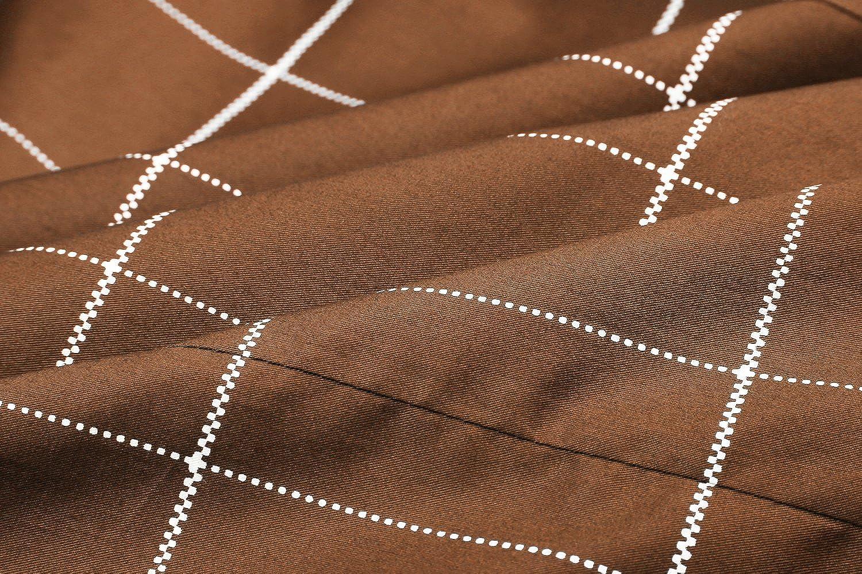 Coofandy Camicia Uomo Maniche Lunghe a Quadri Lavaro Cotone Elegente Estive Casual