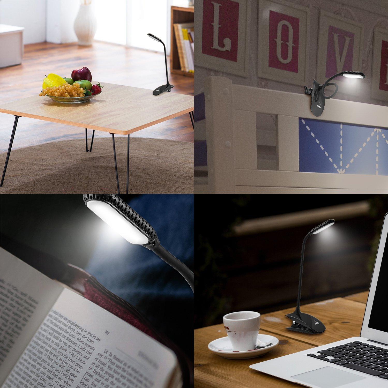 Galleon Amir Clip On Book Light 3 Levels Brightness Led