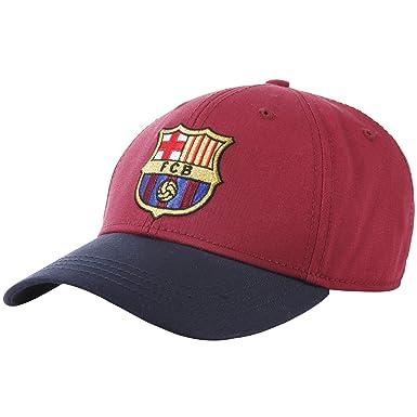 143cd1377f9 Official Football Merchandise Adults FC Barcelona Core Baseball Cap (One  Size) (Burgundy)