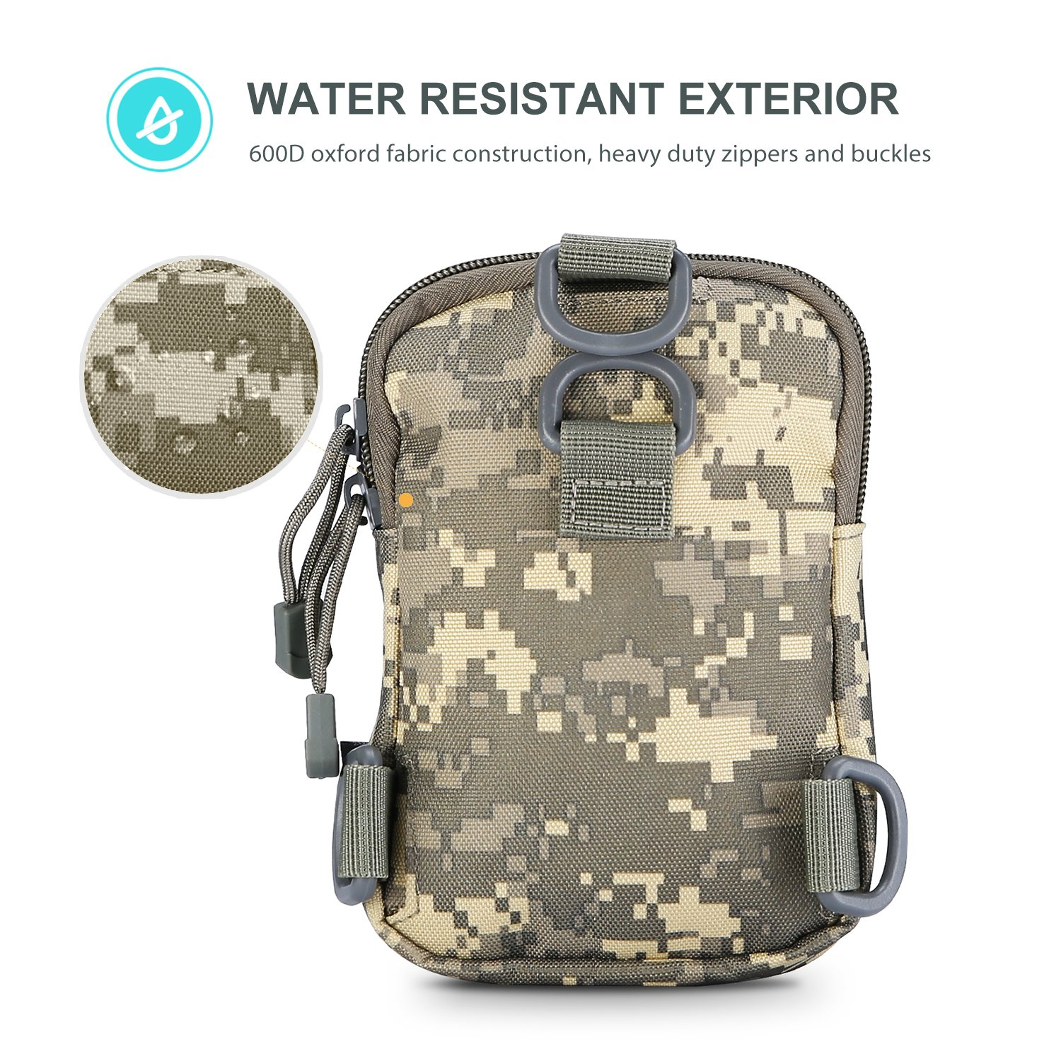 Amazon.com : ProCase Tactical Molle Phone Pouch, Compact Waster-Resistant EDC Utility Gadget Gear Belt Waist Bag Multipurpose Fanny Pack with Cell Phone ...