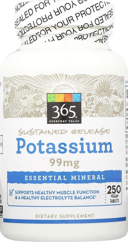 365 Everyday Value, Potassium 99mg, 250 ct