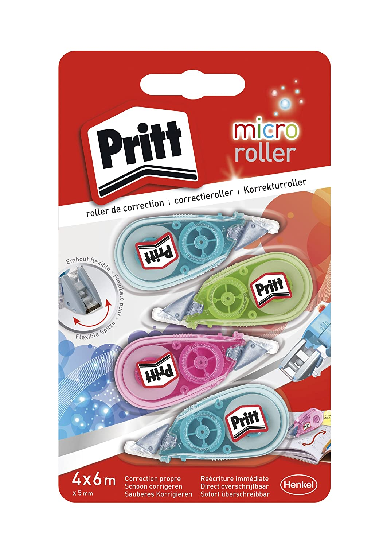 Pritt Micro –  SET DI 4 pattini di correzione 5 mm x 6 m HENKEL 2299499