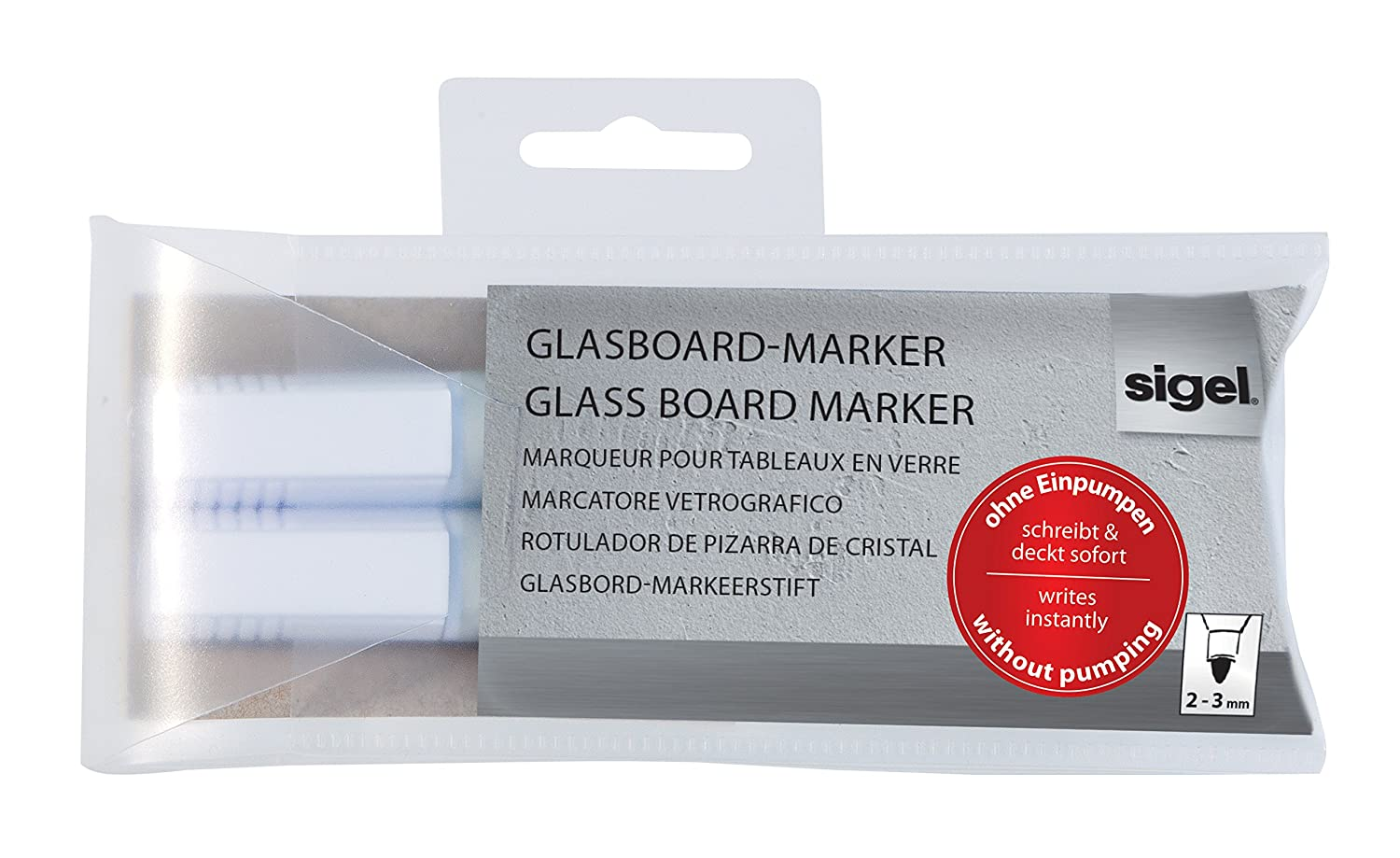 Amazon.com : Sigel GL715 2-3 mm Round Nib Wipeable Glass ...