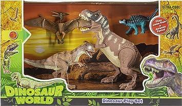 Toys Outlet - Dinosaur World 5406332464. Pack de 4 Dinosaurios.: Amazon.es: Juguetes y juegos