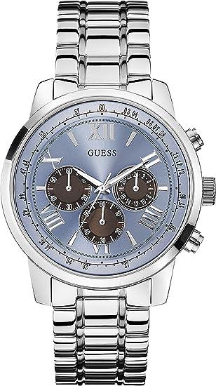 Guess Reloj analogico para Hombre de Cuarzo con Correa en Acero Inoxidable W0379G6: Amazon.es: Relojes