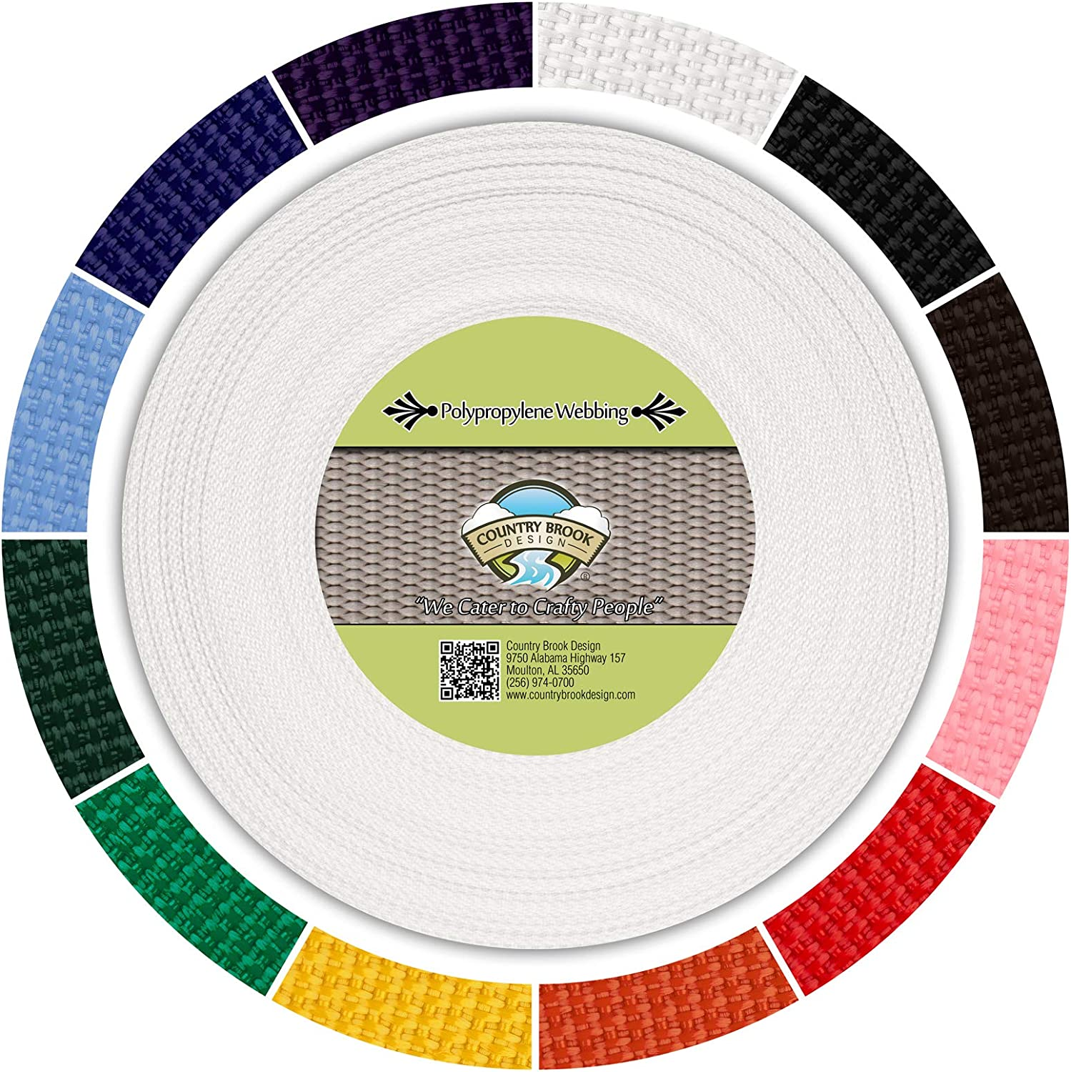 """1/"""" Wide Many Colors Medium Nylon Webbing Strapping by the Yard or lot"""
