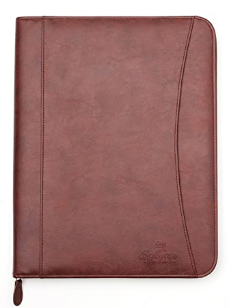 Professional Executive PU Leather Business Resume Portfolio Padfolio  Organizer With IPad Mini Or Tablet Sleeve Holder  Leather Resume Folder