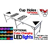 8-Foot Beer Pong Table w/ OPTIONAL Cup Holes, LED Glow Lights, Dry Erase Surface, Custom Graphics & More...