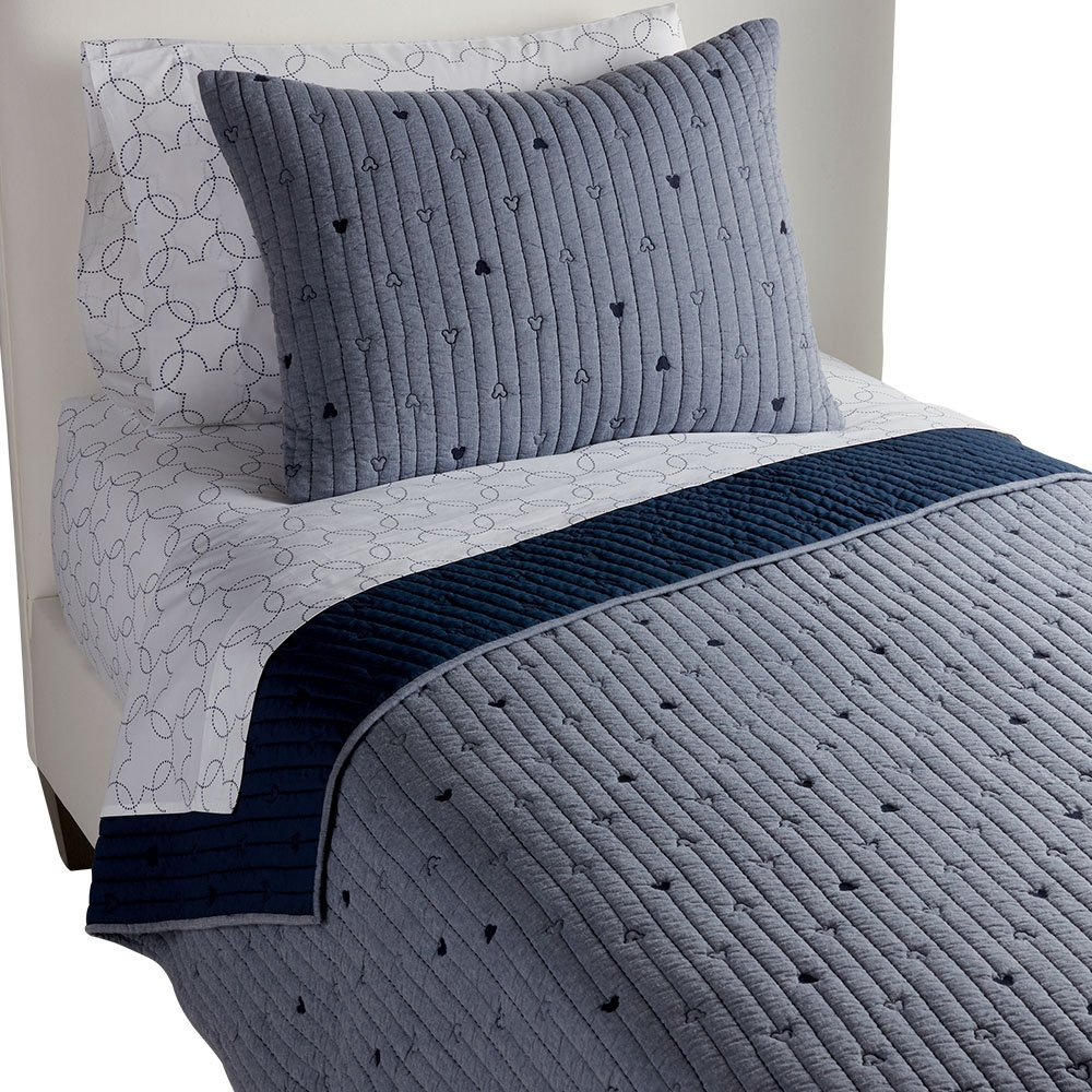 Ethan Allen   DisneyMickey Mouse How Cool Quilt, Midnight (Navy), Twin