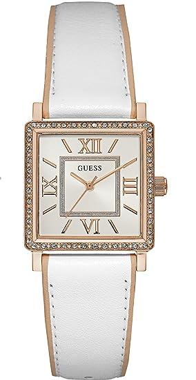 Guess Reloj Analogico para Mujer de Cuarzo con Correa en Cuero W0829L11: Guess: Amazon.es: Relojes