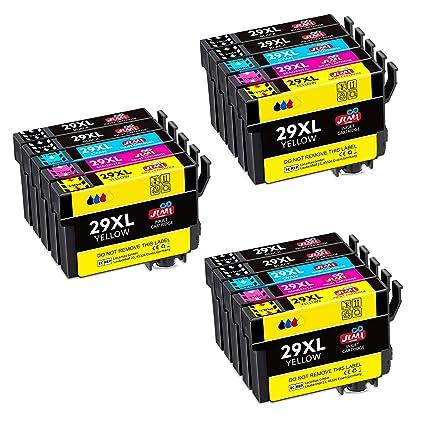 JIMIGO 29XL Alta Capacidad Cartuchos de Tinta para Epson 29,15 ...