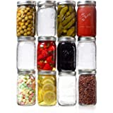 Ball Wide Mouth Quart Mason Jars 32 oz. (12 Pack)with Airtight Lids, Bands and Jar Opener