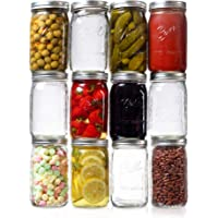 Ball Wide Mouth Quart Mason Jars 32 oz. (12 Pack) with Airtight Lids, Bands and Jar Opener