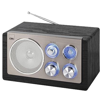 CTC MR 7027 - Radio FM (Entrada Auxiliar, Carcasa de Madera ...