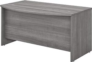 Bush Business Furniture Studio C Collection Bow Front Desk, Platinum Gray