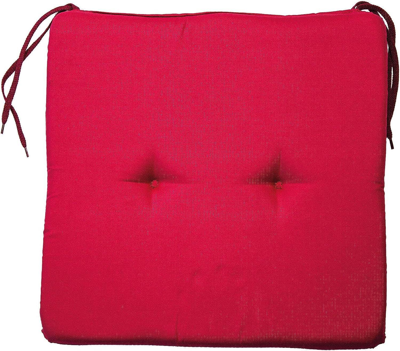 AVANTI TRENDSTORE 40x3x40 cm Cuscino coprisedia con Laccio Molto Comodo Stella Beige Disponibile in Diversi Colori ca