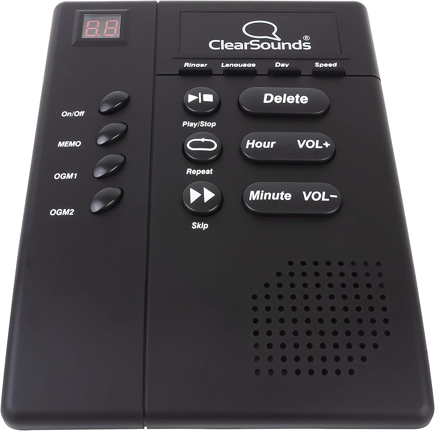 ClearSounds ANS3000 Amplified Answering Machine for Analog Telephones Landline with Up to 30dB Amplification : Health And Personal Care : Electronics
