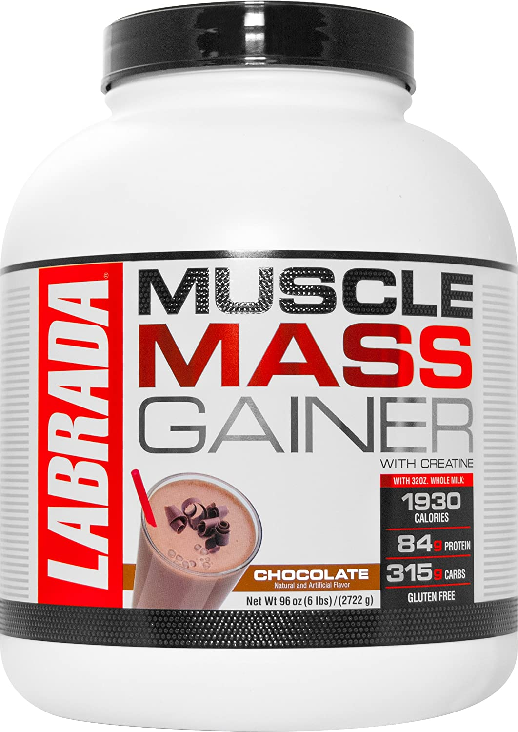 Labrada Nutrition Muscle Mass Gainer, Chocolate, 6 Pound by Labrada B00QQA43UQ