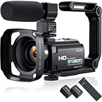 2021 New Upgraded Video Camera Camcorder, Ultra HD 1080P 30FPS 24MP Vlogging Camera 16X Zoom 3.0 Inch IPS Screen Digital…