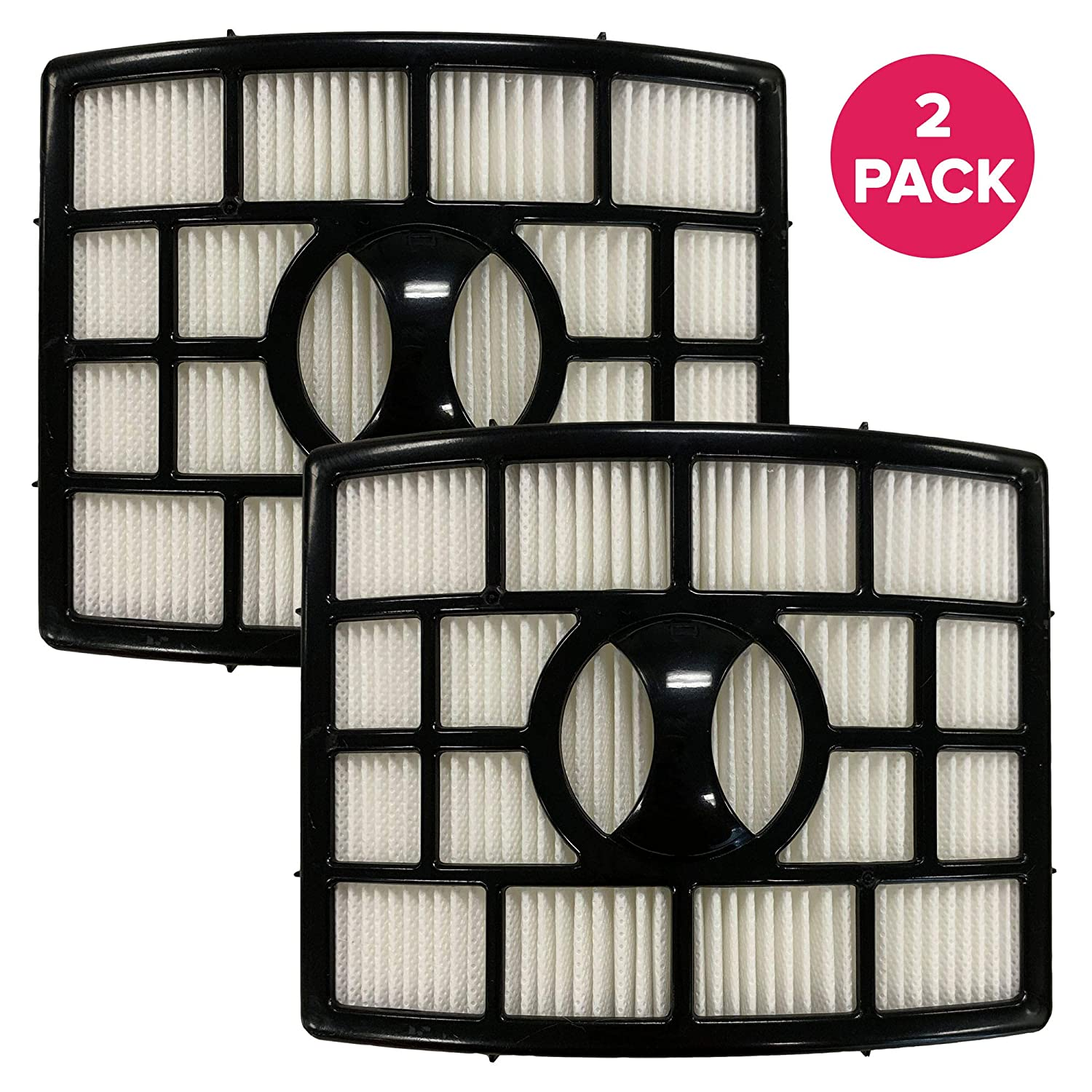 Think Crucial Replacement Vacuum Post Filter Compatible with Shark Vacuum Parts XHF650, Models Rotator Powered Lift-Away, Duoclean Vacs NV650, NV650 NV835 NV651 NV652 NV750, HEPA Style, Bulk (2 Pack)