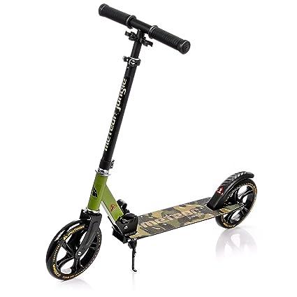 meteor® Urban Jungle Scooter para Adultos y niños   Plegable   Manillar Regulable en Altura   Grandes Ruedas con 200 mm   ABEC7   Pedal de Freno   ...