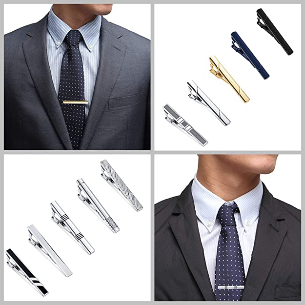 YADOCA 10 Piezas Clip de Corbata para Hombres Metal de Cobre ...