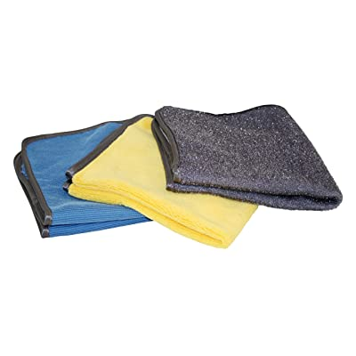 AutoSpa 45630AS Microfiber Detailing 3 Piece Towel Set (for Glass, Body, and Wheel): Automotive