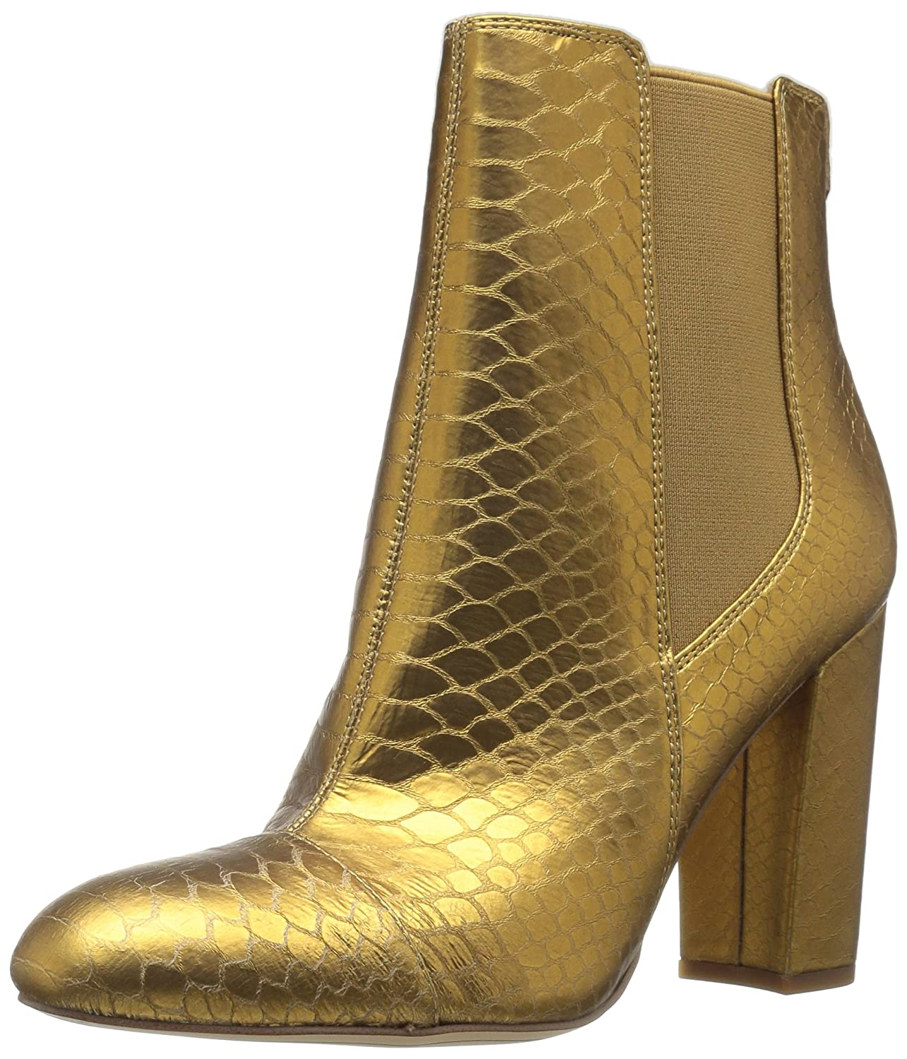 Sam Edelman Women's Case Chelsea Boot B06XBZY4FW 9.5 B(M) US|Gold Snake Print Leather