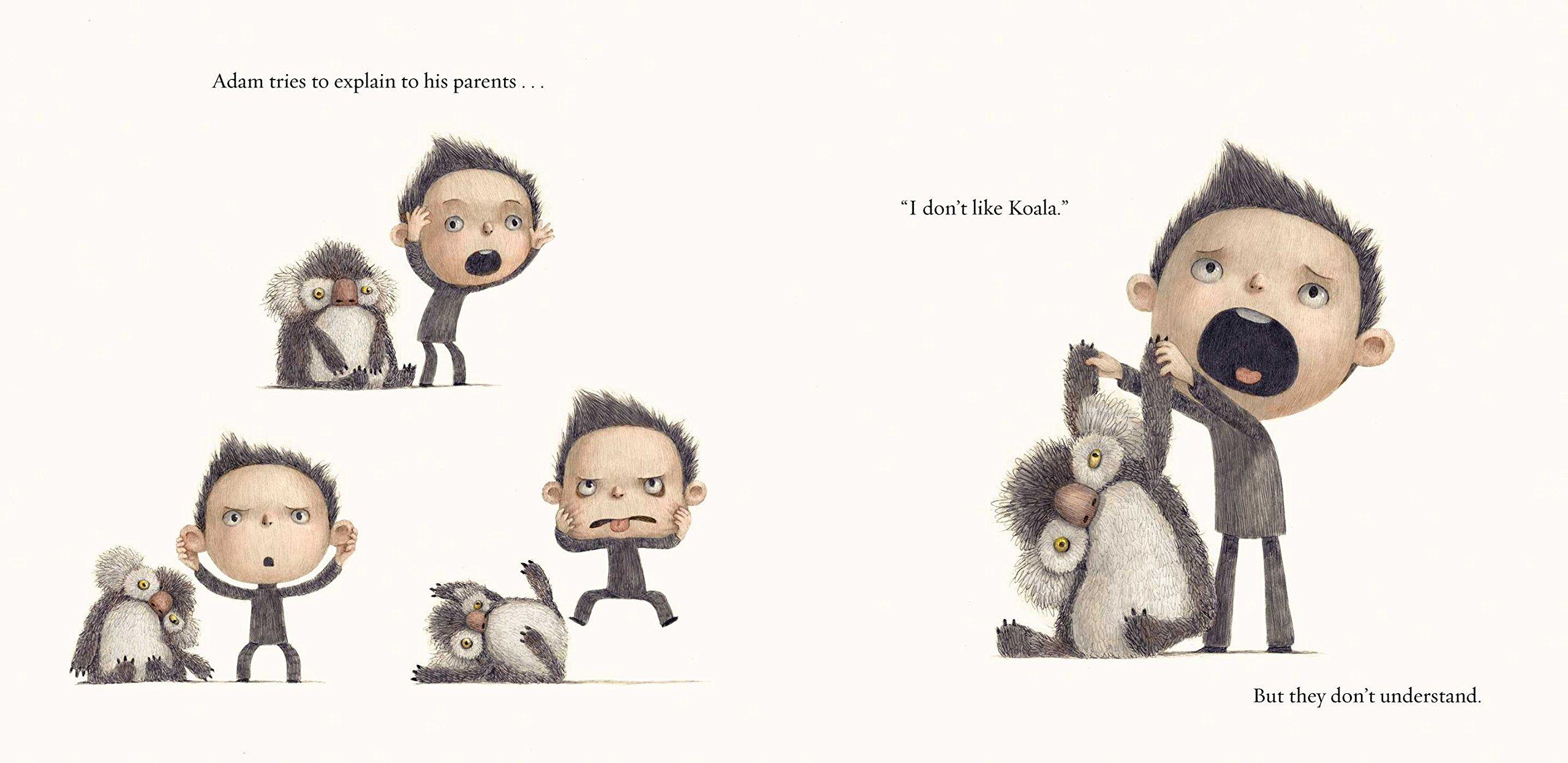 QueEstasLeyendo, No me gusta mi Koala, Sean Ferrell, Charles Santoso, Ediciones Obelisco, blog de lectura, Solo Yo, Blog Solo Yo, album ilustrado, cuento, libro,