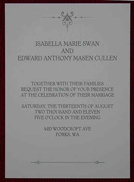 The Best Bella And Edward Wedding Invitation Background