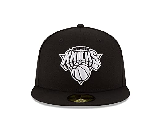 New Era New York Knicks NBA Black White 59fifty 5950 Fitted Cap Limited  Edition  Amazon.co.uk  Sports   Outdoors 0ae916c09431