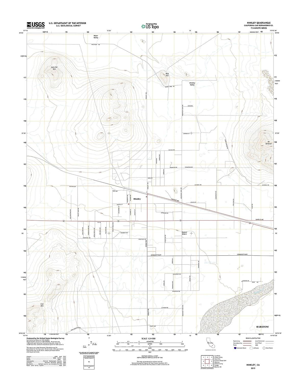 Amazon Com Topographic Map Poster Hinkley Ca Tnm Geopdf 7 5x7 5