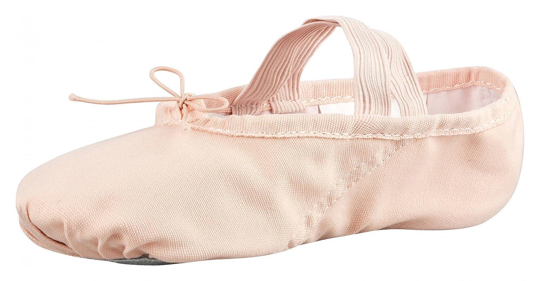 Rosa albaricoque suela partida de cuero tanzmuster Zapatillas media punta de ballet Lino