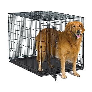 New World Folding Metal Dog Crate; Single Door & Double Door Dog Crates
