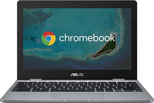"Asus Chromebook C223NA#B08CVBK2J4, Notebook con Monitor 11,6"" HD Anti-Glare, Intel Celeron N3350, RAM 4GB, 32GB eMMC, Sistema Operativo Chrome, Grigio"