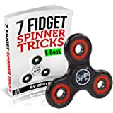 Spin Dr Fidget Spinner With Case Covered Bearings - Stress Relief Toys & Fidget Hand Spinner (Black)