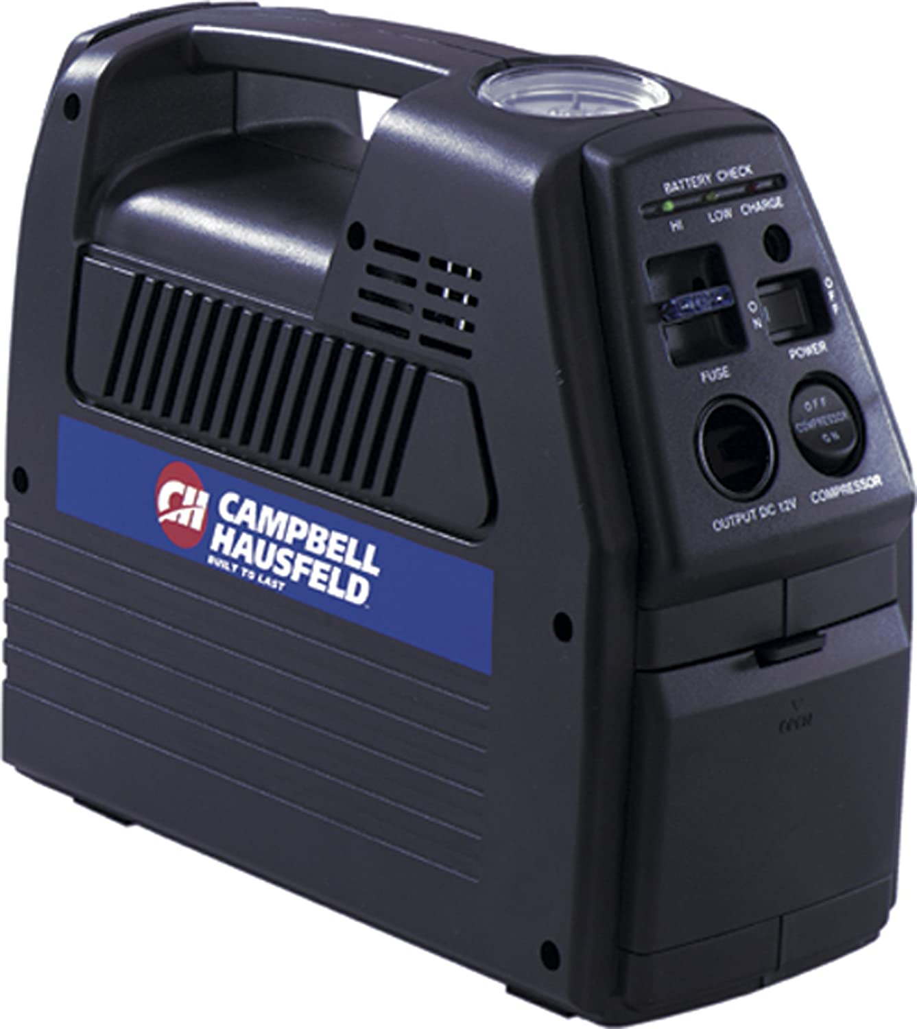 8. The Campbell Hausfeld CC2300 12 Volt Rechargeable Inflator