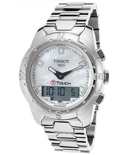 Tissot T-Touch II de la t0472204411600 mujeres diamante analógico Digital multifunción titanio reloj: Amazon.es: Relojes
