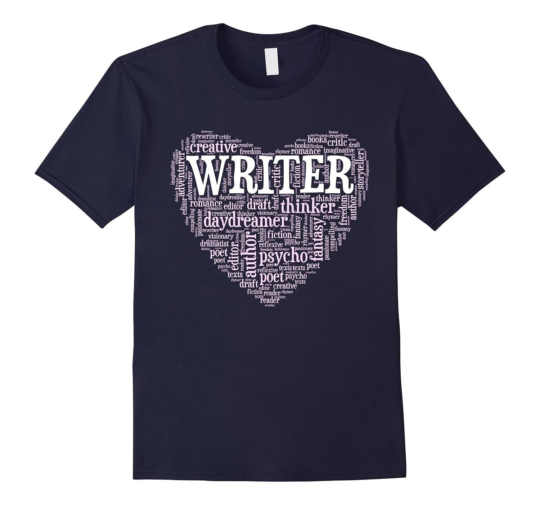 Writer Heart - Best Author Poet Tee Shirt-TH