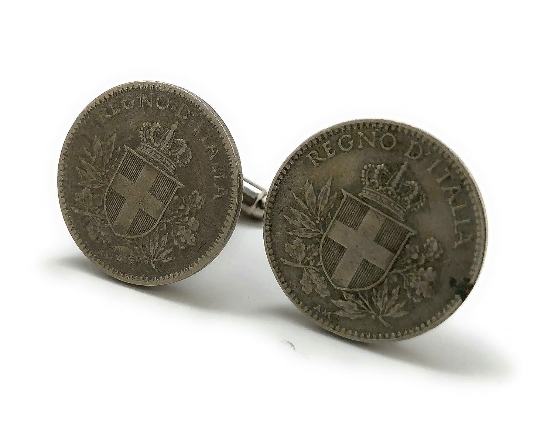Old Italian Vintage Coin Cufflinks Rare Italy Lira From World War I Authentic Cuff Links Italiano