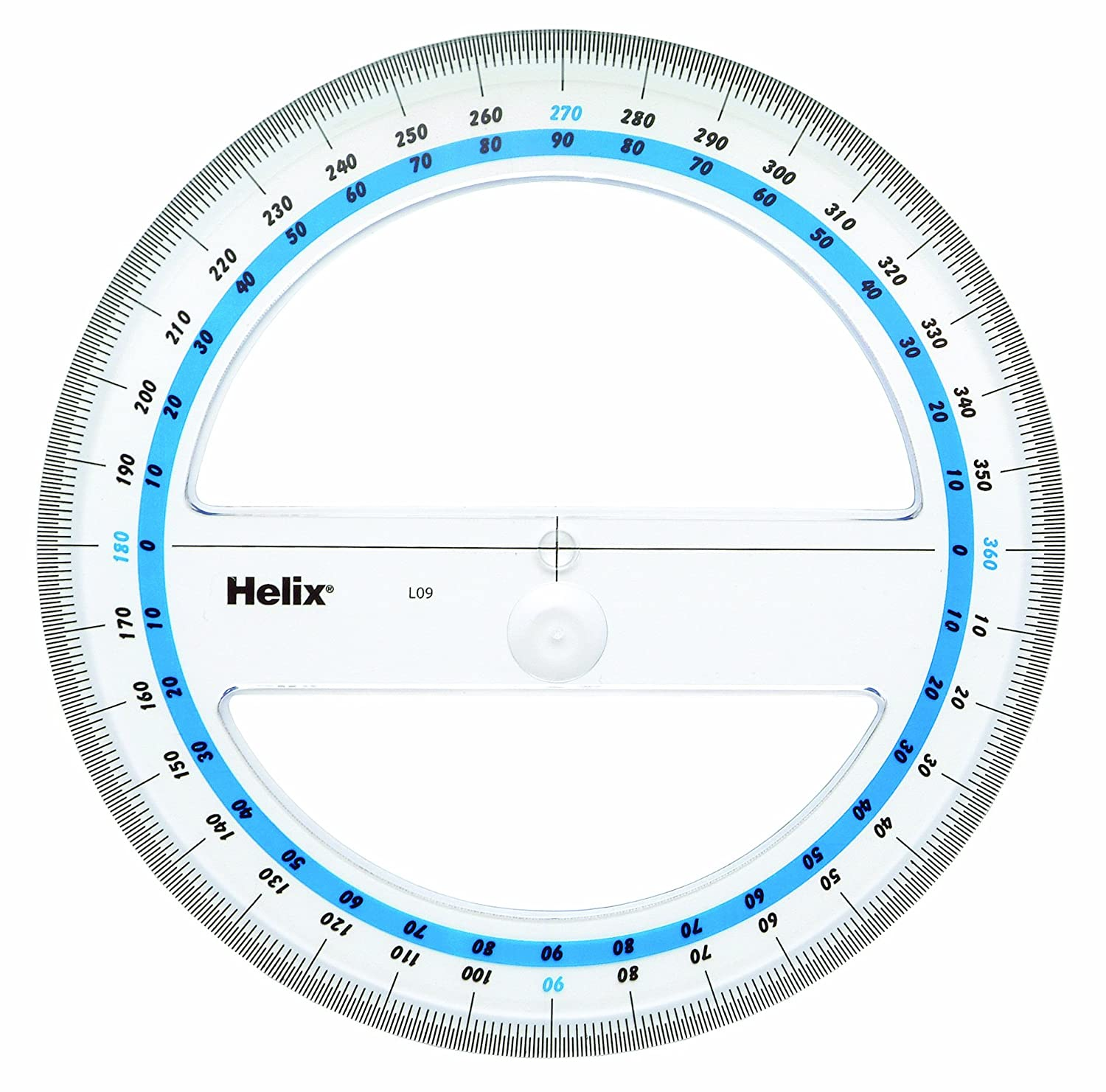 worksheet Protractor Template helix 15cm 360 degree protractor angle measure amazon co uk office products