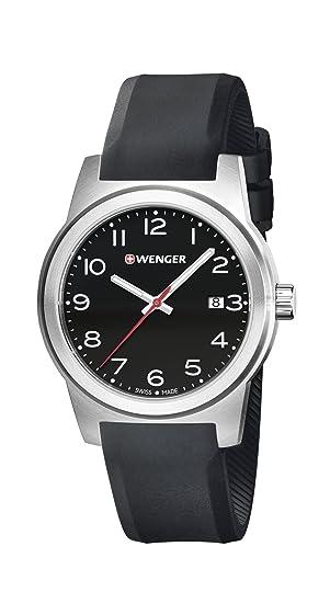 Wenger Reloj Analogico para Unisex de Cuarzo con Correa en Silicona 01.0441.144: Amazon.es: Relojes