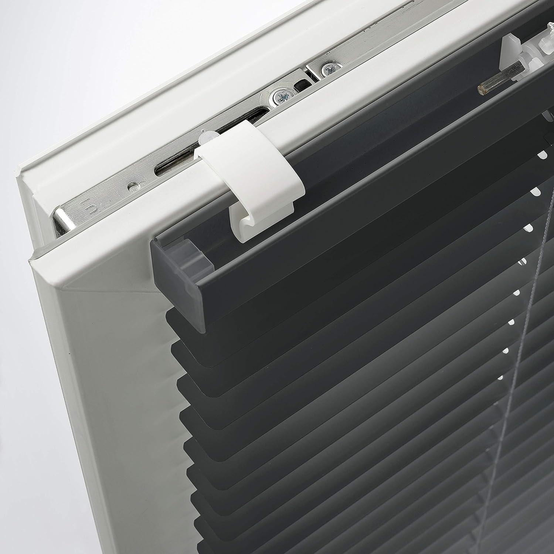 Deco Company 65 x 130 cm Persiana de Aluminio con Pinzas Color Gris