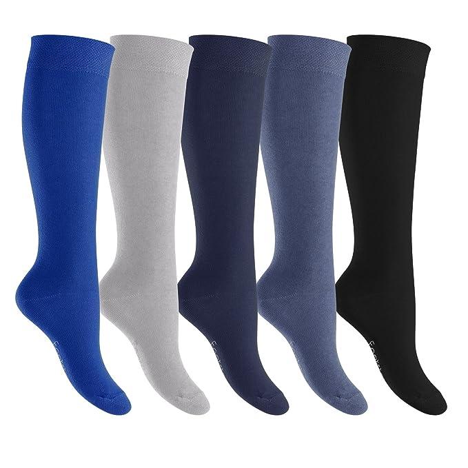 Calcetines de rodilla hombres y mujeres - de algodón en prodigioso colores Gr 35 a 50: Amazon.es: Ropa y accesorios