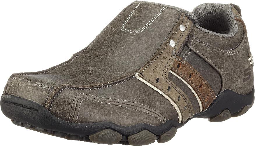 Redondo Nota accidente  Skechers 61779 Char - Zapatillas de casa de Cuero para Hombre, Color Gris,  Talla 42.5: Amazon.es: Zapatos y complementos